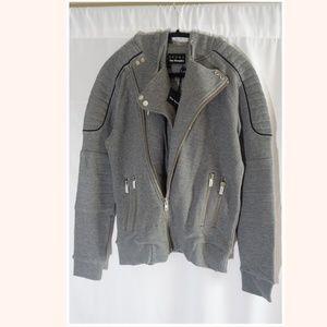 The Kooples  Patch Classic Fleece Biker Jacket